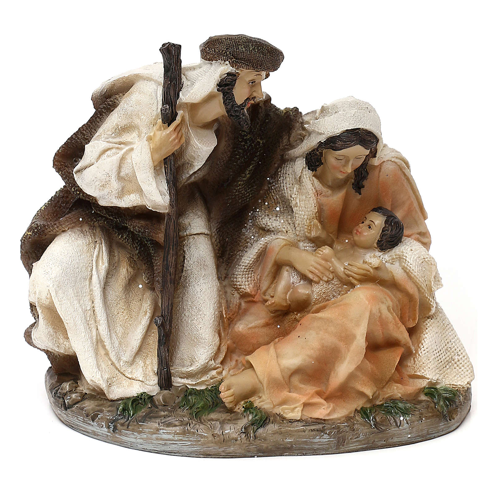 Holy Family Arab style in resin 15 cm 3