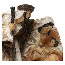 Holy Family Arab style in resin 15 cm s2