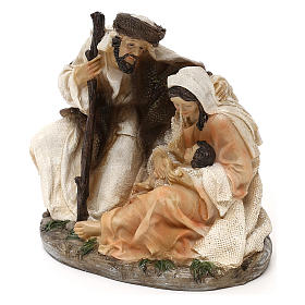 Holy Family Arab style in resin 15 cm s3