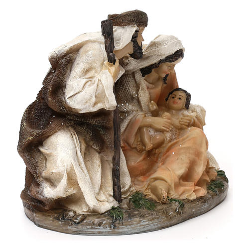 Holy Family Arab style in resin 15 cm 4