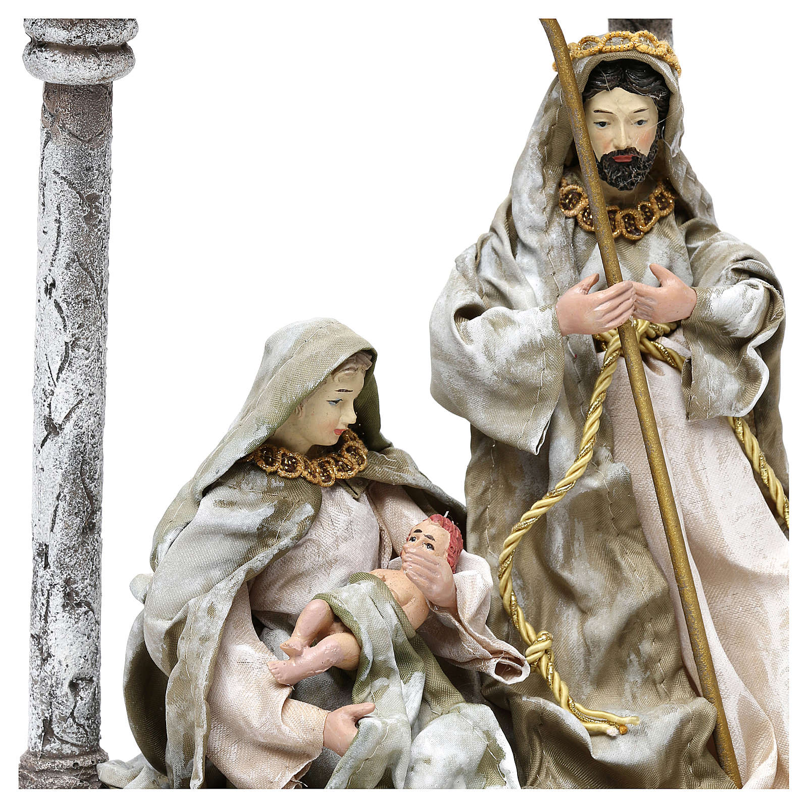 Holy Family with arch for Nativity scenes of 18 cm 3