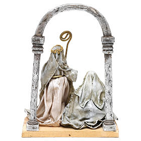 Holy Family with arch for Nativity scenes of 18 cm s5