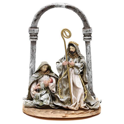 Natividad con arco para belenes de 18 cm 1