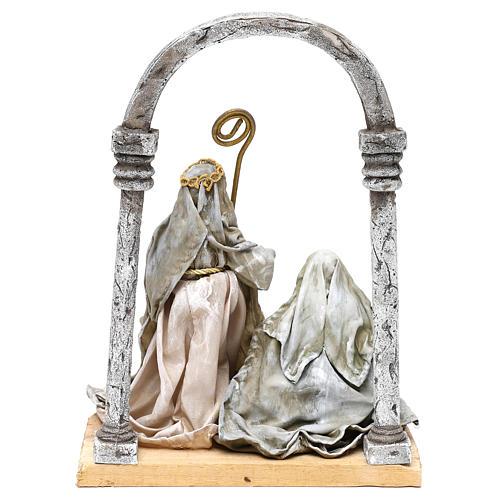 Natividad con arco para belenes de 18 cm 5