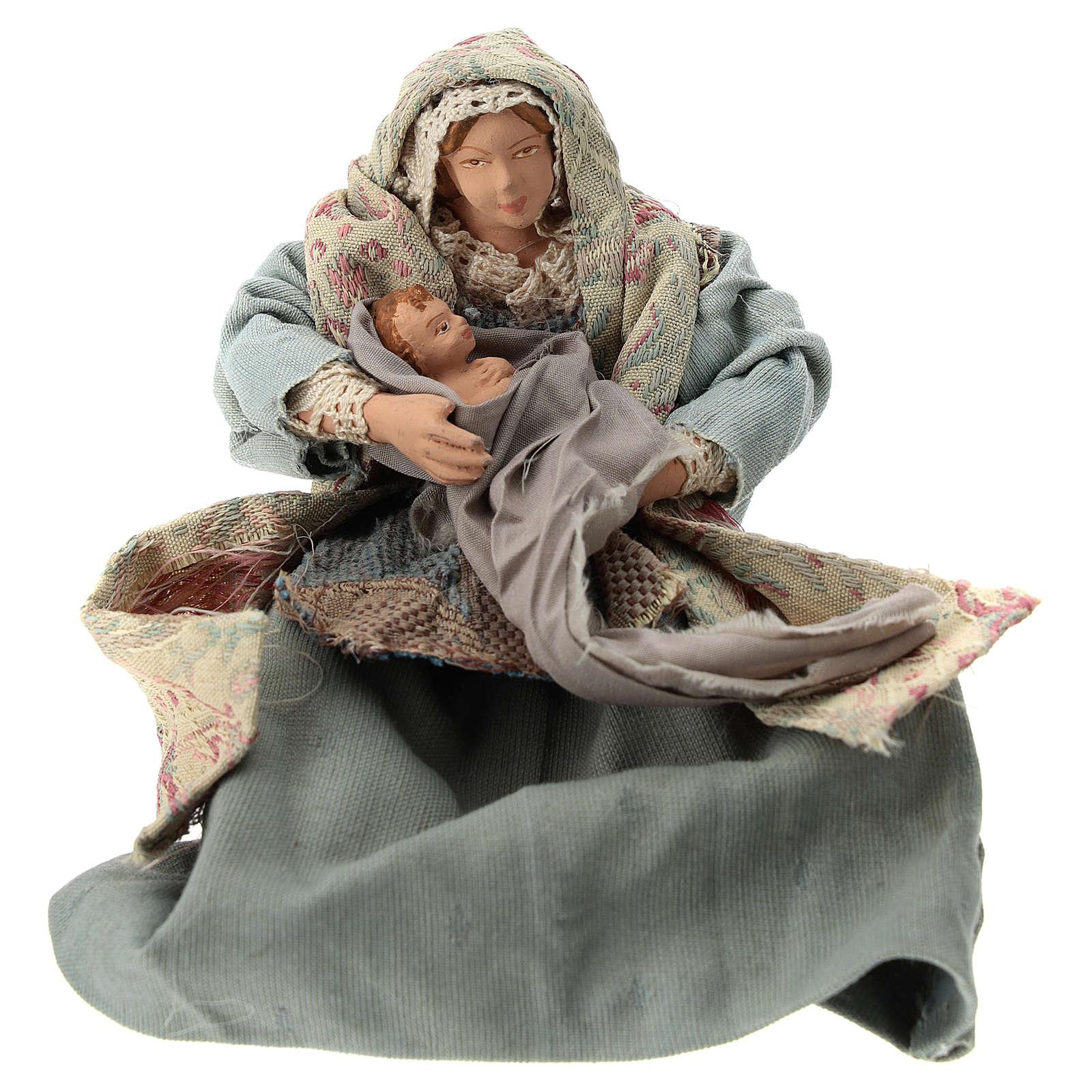 Natividad estilo shabby chic h. 25 cm 3