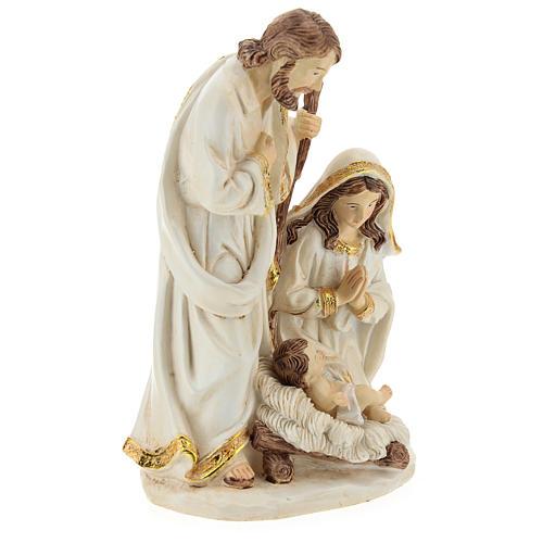Cena Natividade resina acabamento cor de marfim para presépio com figuras de 19 cm de altura média 4