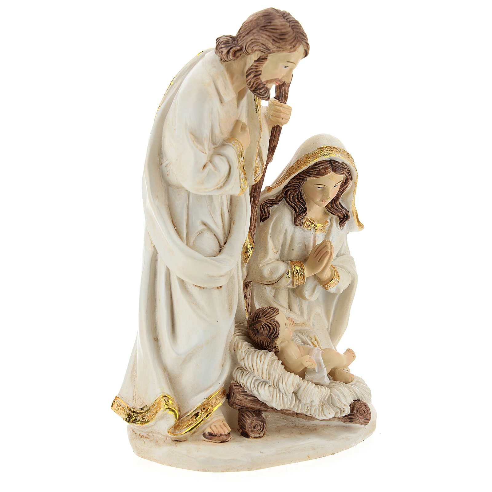 Nativity scene 19 cm resin Ivory finish 3