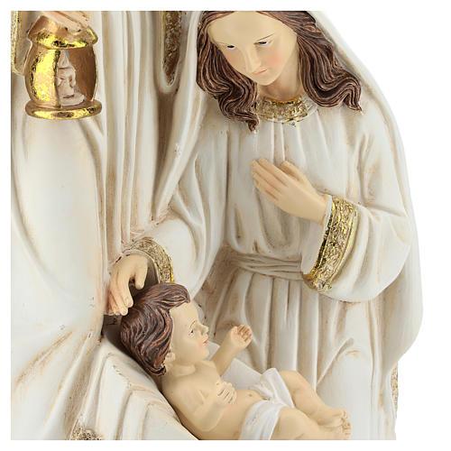 Nativité 2 pcs 40 cm finition ivoire 2