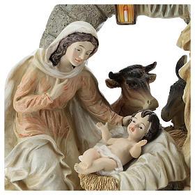 Scène Nativité avec grotte 20 cm résine s2