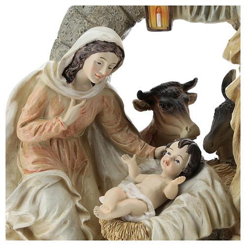Scène Nativité avec grotte 20 cm résine 2