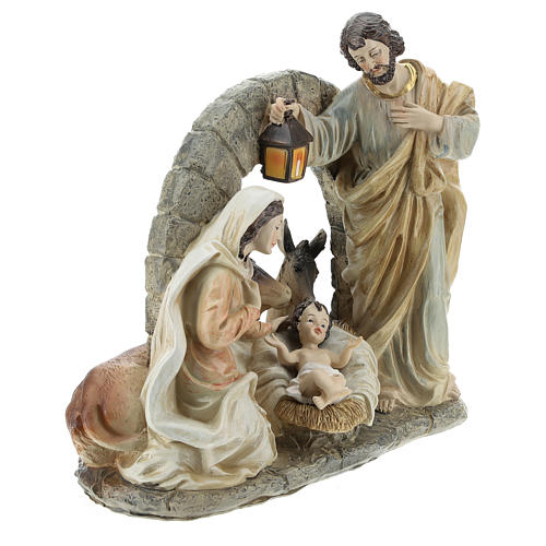 Nativity scene with stable 20 cm resin 4