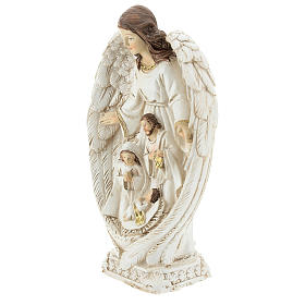 Nativity scene between the wings of the angel 23 cm resin s3
