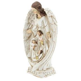 Scène Nativité entre les ailes d'un ange 23 cm s3
