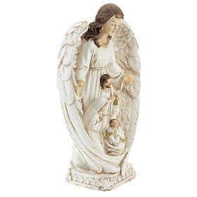 Scène Nativité entre les ailes d'un ange 23 cm s4