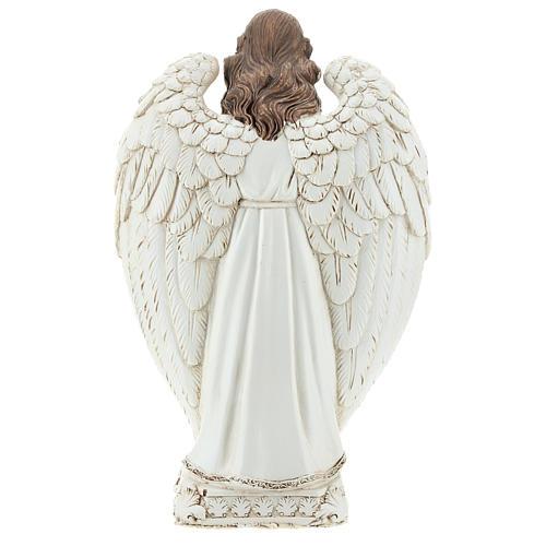 Scena natività tra le ali dell'angelo 23 cm  5