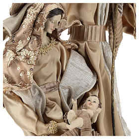 Nativity 31 cm resin and fabric Gold finish s2