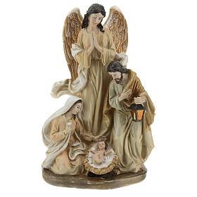 Sagrada Familia con ángel 23 cm s1