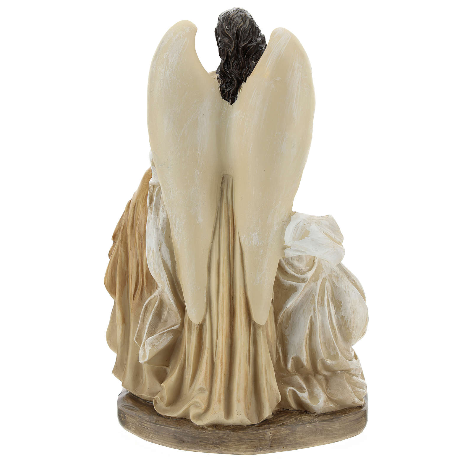 Sacra Famiglia con angelo 23 cm  3