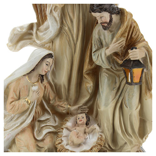 Sacra Famiglia con angelo 23 cm  2