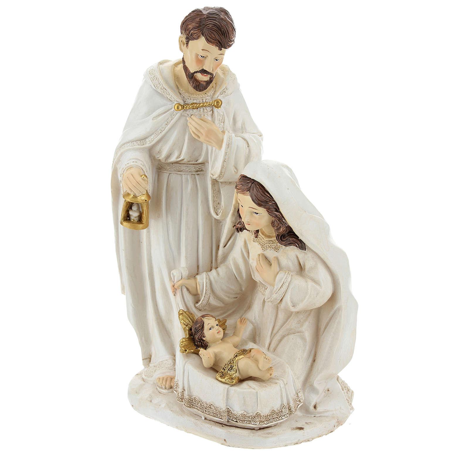 Scène naissance de Jésus 26 cm finition ivoire 3