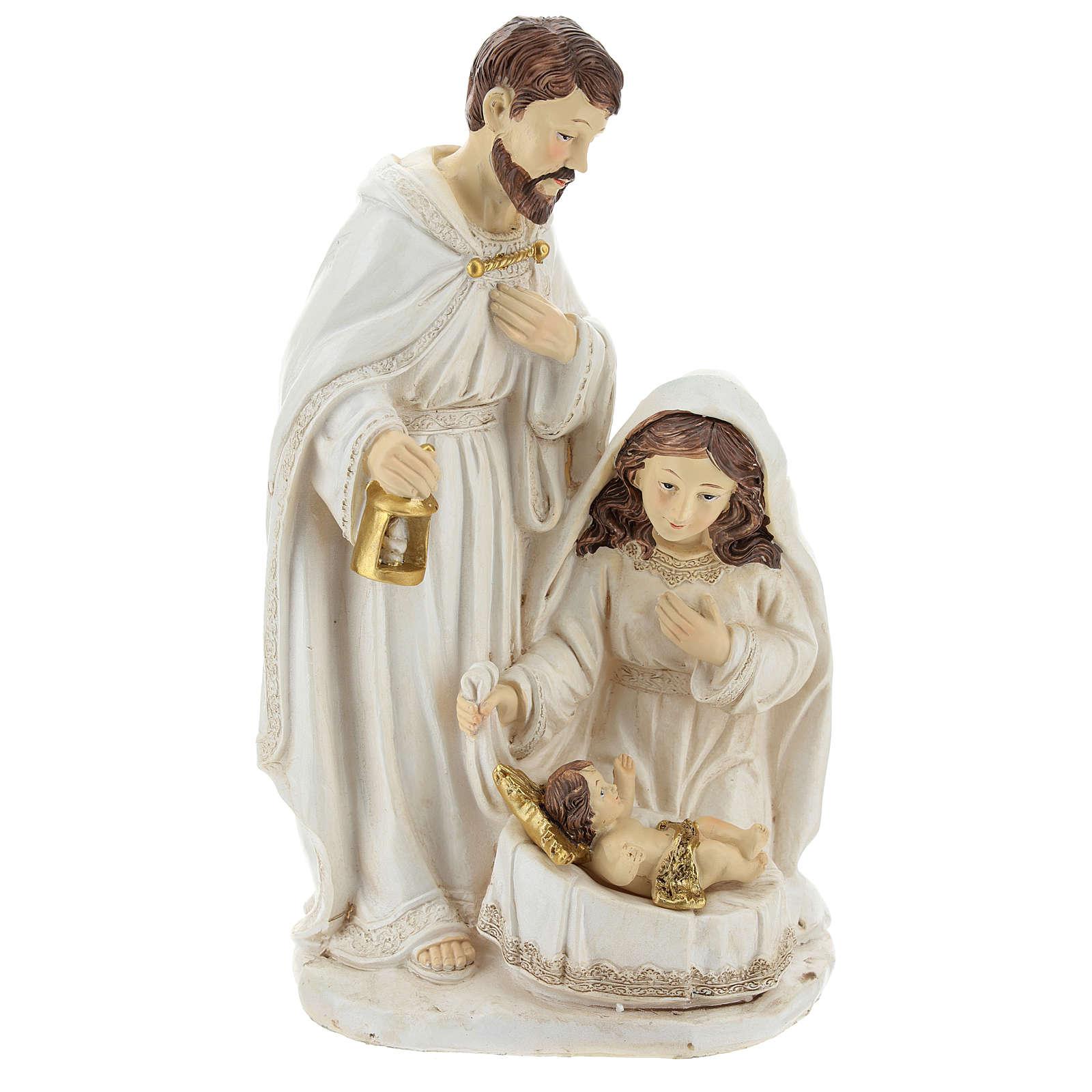 Cena nascimento de Jesus 26 cm acabamento cor de marfim 3