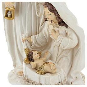 Cena nascimento de Jesus 26 cm acabamento cor de marfim s2