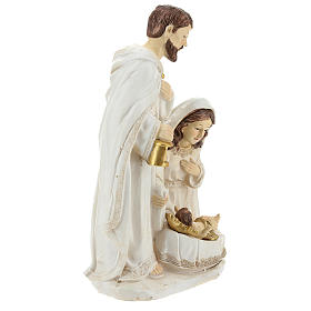 Cena nascimento de Jesus 26 cm acabamento cor de marfim s4