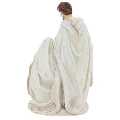 Cena nascimento de Jesus 26 cm acabamento cor de marfim 5