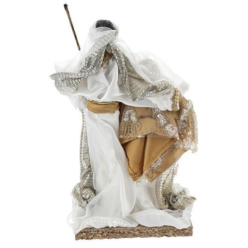 Sainte Famille 30 cm résine et tissu blanc 5