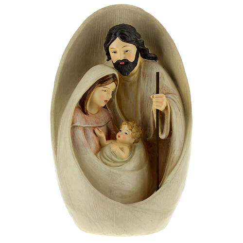 Nativity with oval background 23 cm resin 6