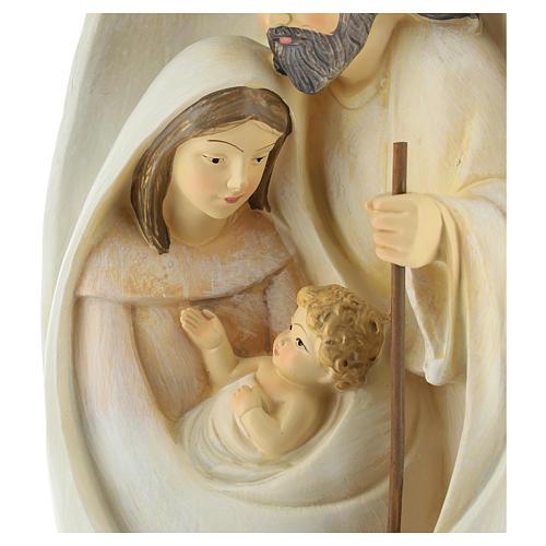 Natividad con fondo ovalado 23 cm resina 2