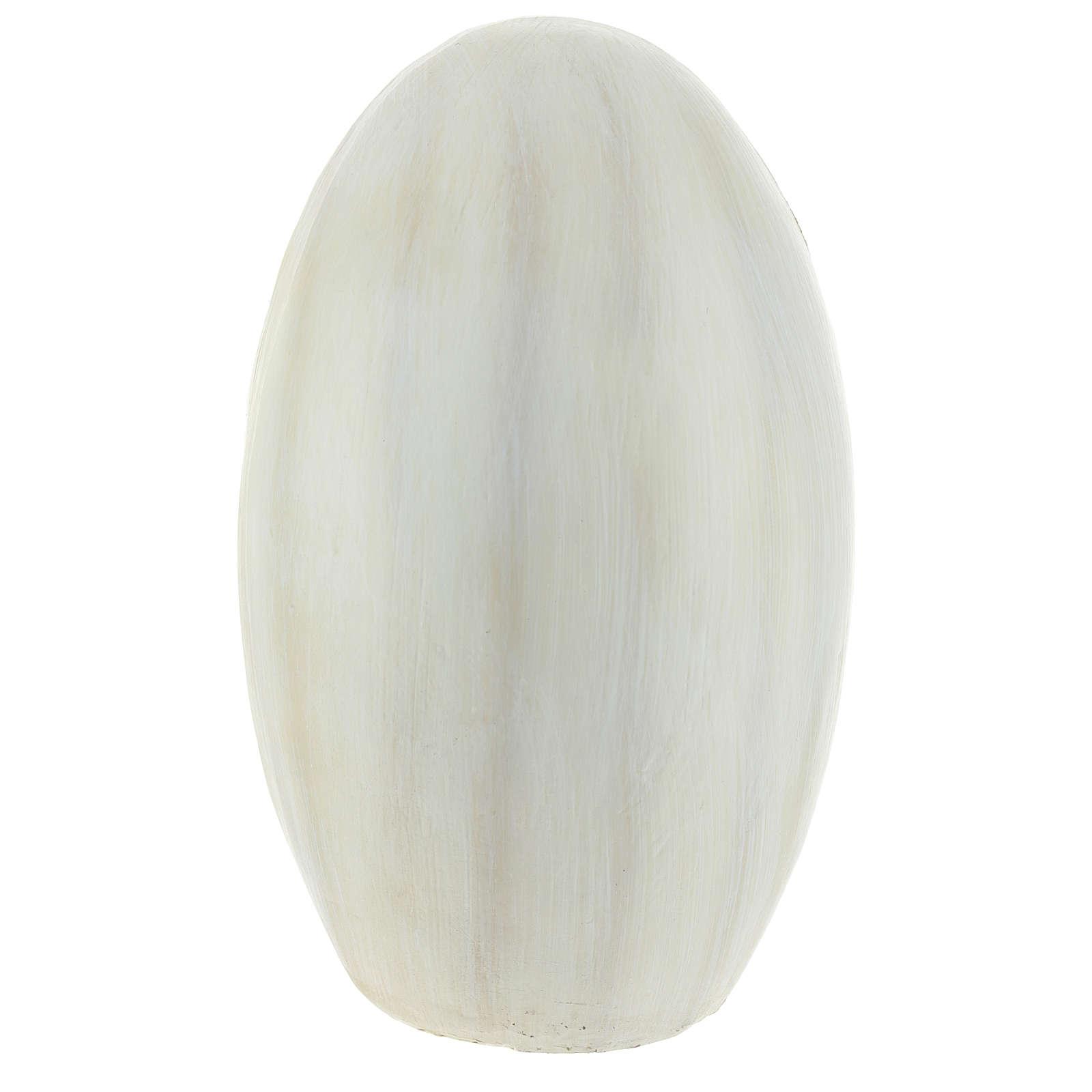 Natività con sfondo ovale 23 cm resina 3