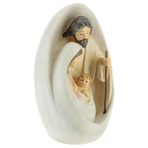 Natività con sfondo ovale 23 cm resina 4