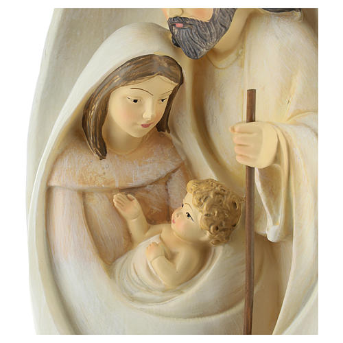 Holy Family with oval background 23 cm resin 2