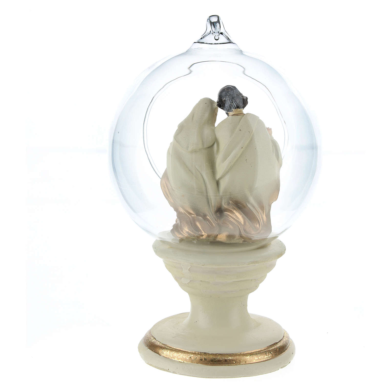 Nativity with glass ball 16 cm resin 3