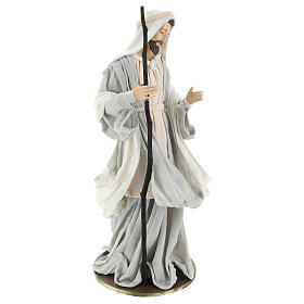 Holy Family 36 cm resin cloth 3 pcs Ivory Pink color s5