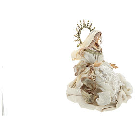 Nativity 3 pieces 46 cm Beige Gold finish resin fabric s5