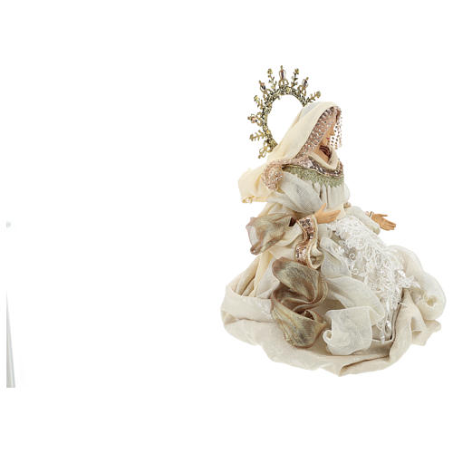 Nativity 3 pieces 46 cm Beige Gold finish resin fabric 5
