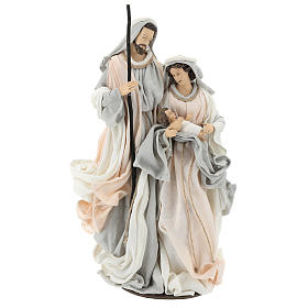 Sacred Family statue resin on base Ivory Grey cloth 47 cm s1