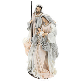 Sacred Family statue resin on base Ivory Grey cloth 47 cm s3