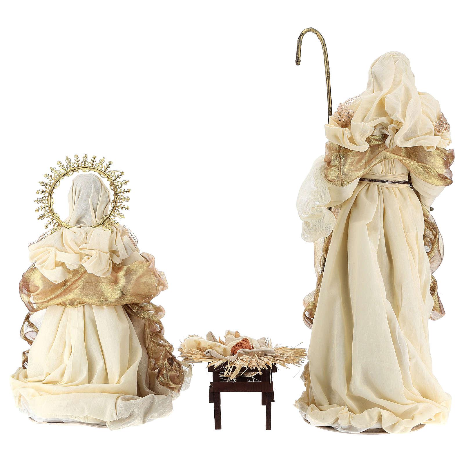 Natividad oro y beis resina 36 cm 3