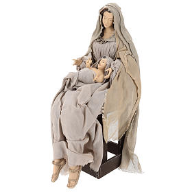 Nativity 80 cm in Shabby Chic style with fabric and lace details s3