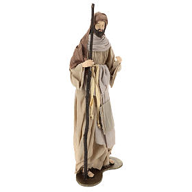 Nativity 80 cm in Shabby Chic style with fabric and lace details s4