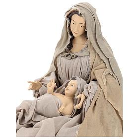 Natividad con base de madera con detalles de gasa y encaje 80 cm s2