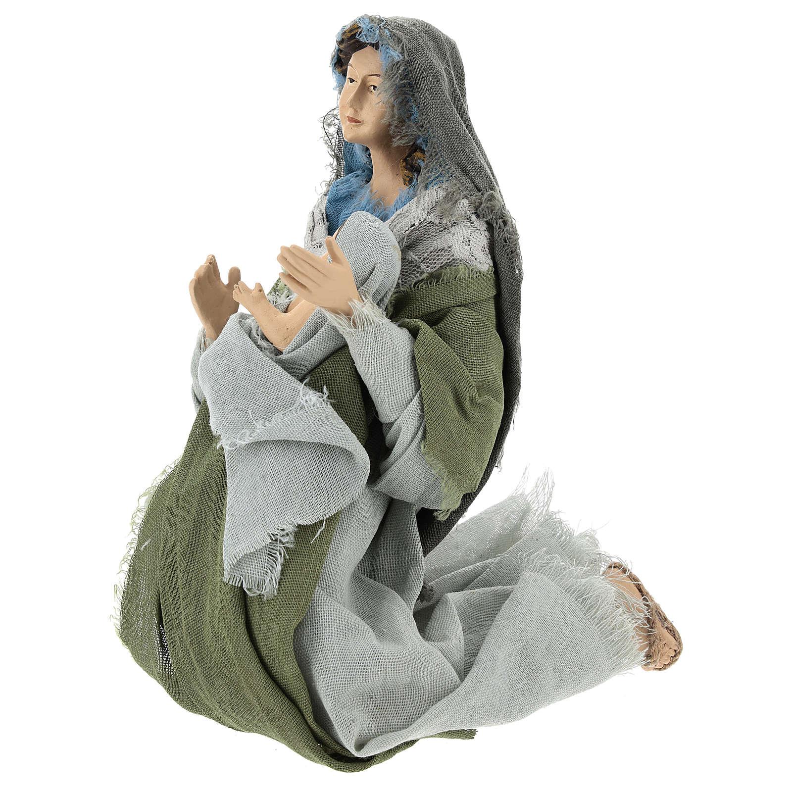 Nativité 40 cm en style Shabby Chic 3