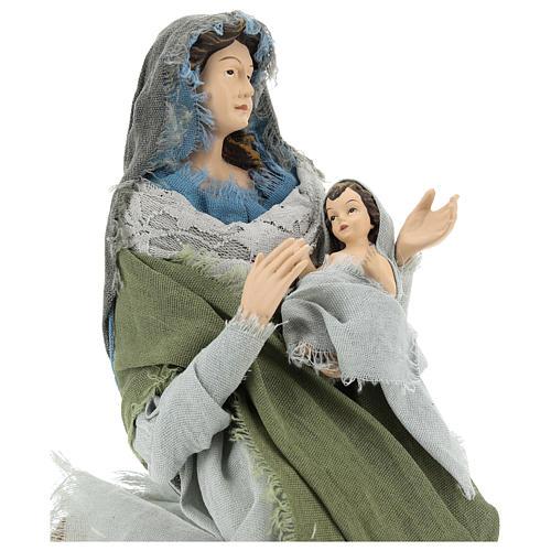 Nativité 40 cm en style Shabby Chic 2