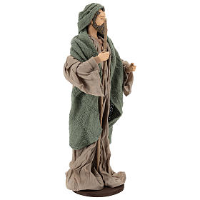 Nativity 30 cm Shabby Chic style with green and beige fabric used to recreate the clothes of the  figurines s5