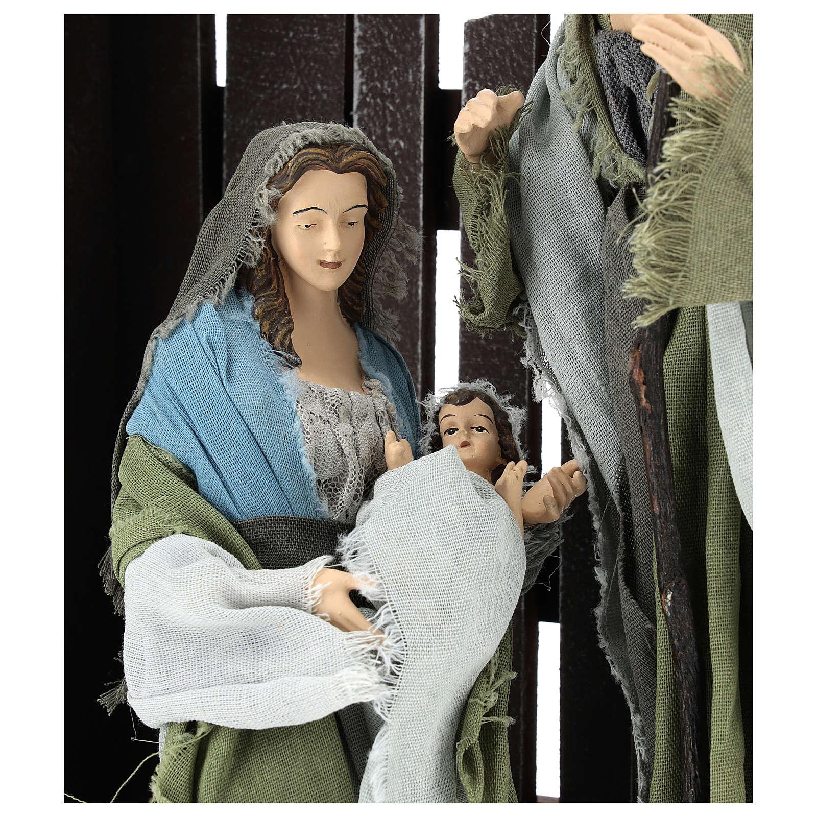Nativité 30 cm avec cabane style Shabby Chic 3