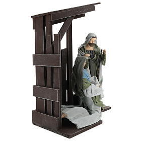 Holy Family statues 30 cm with stable, Shabby Chic style s4