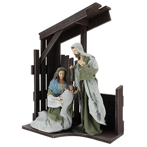 Holy Family statues 30 cm with stable, Shabby Chic style 3